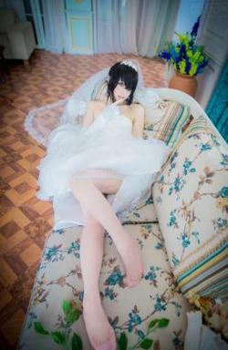 白丝美腿福利《约会大作战》时崎狂三婚纱cos图片