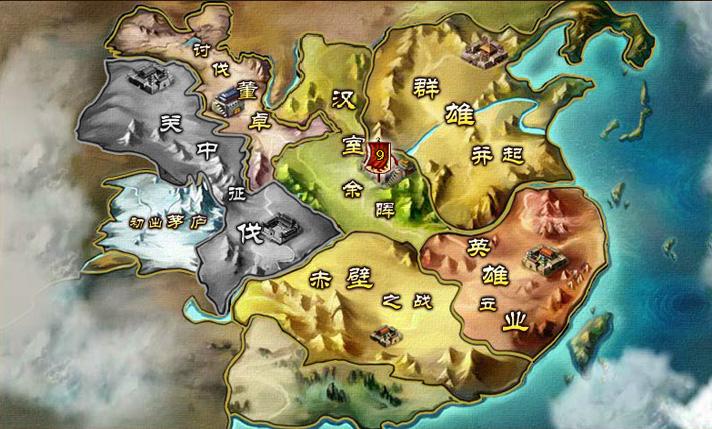 卡通游戏地图素材