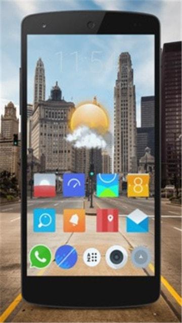 透明手机主题截图