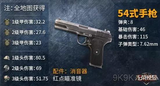 光荣使命54式手枪怎么获得 54式评测