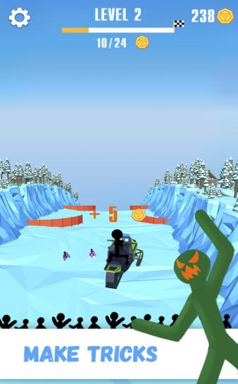 火柴人雪橇賽最新版截圖
