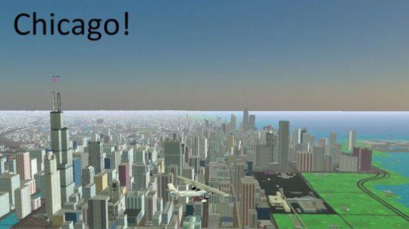 3D地球飞行模拟器截图